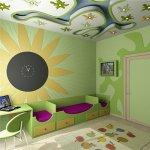 Цветовая гамма детской комнаты.
