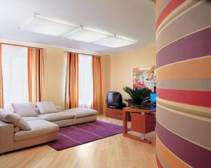 Самые популярные варианты комбинированной покраски стен.