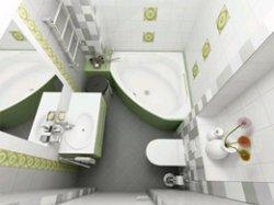 Совмещенный санузел с ванной комнатой.